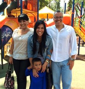 Silvia, Chivis, Mario & little Daniel