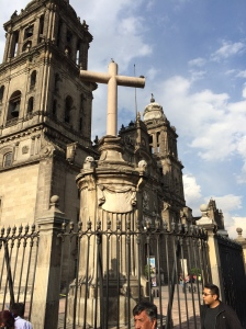 The Cathedral on the Zocalo in Mexico City