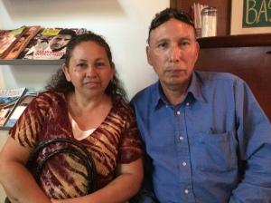 Pastor Jose Luis Rivera with his wife, Raquel