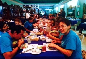 Our last meal with our friends from the two churches - Skyview and La Nueva Jerusalén