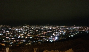 A view of Ensenada at night