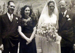 (Left-right) Lazaro Cardenas, Mrs. Cardenas, Mrs. Townsend, and W. Cameron Townsend on the Townsend's wedding day. Mexico Cardenas Museum Waxhaw, Union County