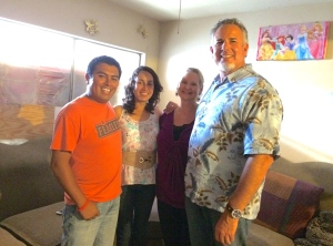 Pastor Abraham Velazquez and Martha with Dawn and Dave