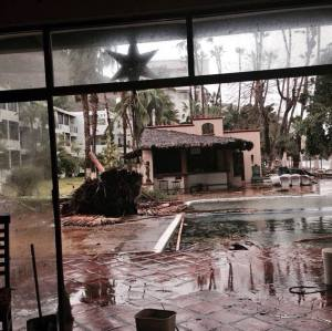 Some of the damage from hurricane Odile