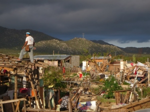 Damage done is some of the poorer areas of Cabo San Lucas