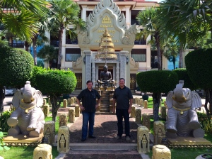Andres Garza & Dave in Cambodia