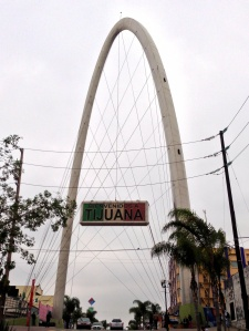 The Welcome Arch in the Tourist area in Tijuana