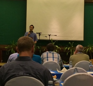 Dr. Lloyd Kim addressing us at MTW's worldwide leadership conference in Siem Reap, Cambodia