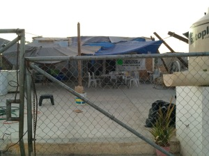 The humble ministry center that Myrta and Soltero minister out of, which has also been their home. Their home and the ministry center were damaged in the hurricane.