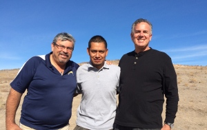 Pastor Daniel Nuñez and Victor Bravo with Dave