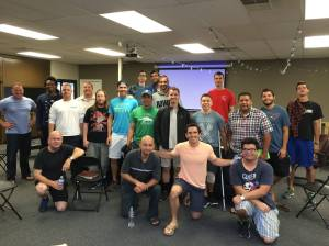 Some of the guys we've been on a journey with from one of our key partners, Bridge Church