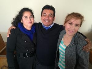 Pastor Ivan with Frida & Lupita
