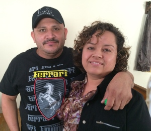 One of the couples we prayed for: Juan and Alejandra