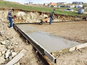 The foundation has been laid for the church #24 in Rosarito near Tijuana