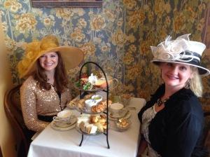 Hannah & Dawn enjoying a tea party