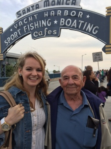 Hannah with her Grandpa
