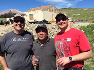 Jeff Sloan, Pastor Ivan Casados & David Jr. - they all worked on the church last week