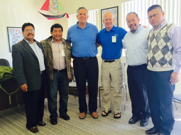 Dave and Larry Trotter with Pastors Cesar Santizo, Felipe Hernandez, Benjamin Romero & Victor Hugo Herrera