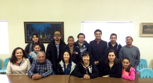 Kathie Kim & Sarah Oh from Redeemer SD in the middle surrounded by the leaders from iglesia Nueva Jerusalén