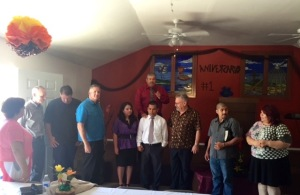 Installing Pastor Gilberto Garcia in the new church!