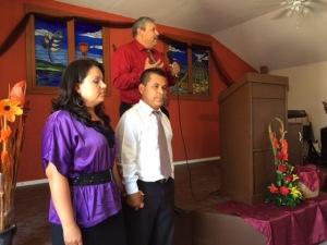 Pastor Gilberto Garcia and his wife, Maribel with Pastor Daniel Nuñez