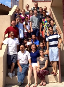 The group from Skyview with some of the leaders from La Nueva Jerusalén
