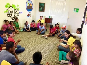 Yudy leading one of the VBS classes