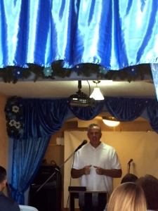 Dave preaching at Monte Sion