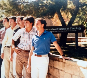 Ty Schenzel is second from the right with seminary roommates from left to right, Dave Diaso, Craig Collie, Ralph Elliott, Ty Schenzel and Dale Goodman