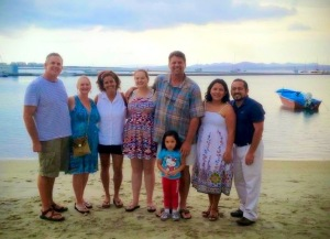 Dave, Dawn and Hannah with Peter & Jenny, Victor, Fanny and Xaris in La Paz