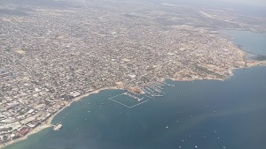 An aerial view of La Paz, Baja California