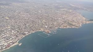 An aerial view of La Paz, Baja California