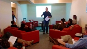 Dave facilitating a coaching training session