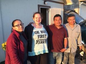 Rocio, Hannah, Ivan and Aaron