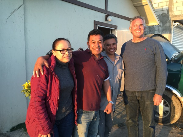 Dave with Pastor Ivan Casados and his wife Rocio and Aaron at a church we helped plant in 2014