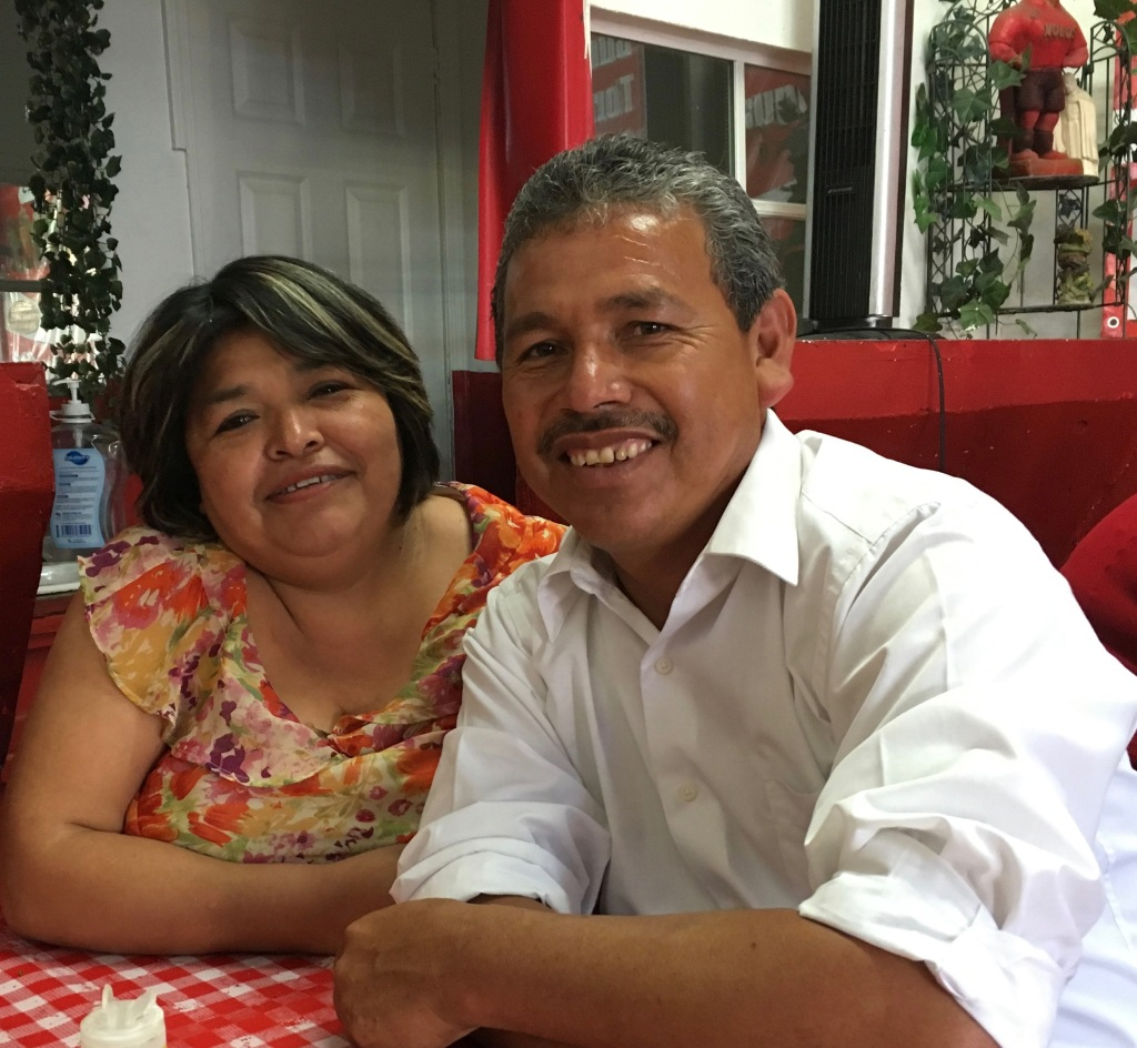Pastor Mario Perez and his wife, Mara