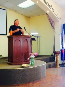 Dave preaching at La Nueva Jerusalén church