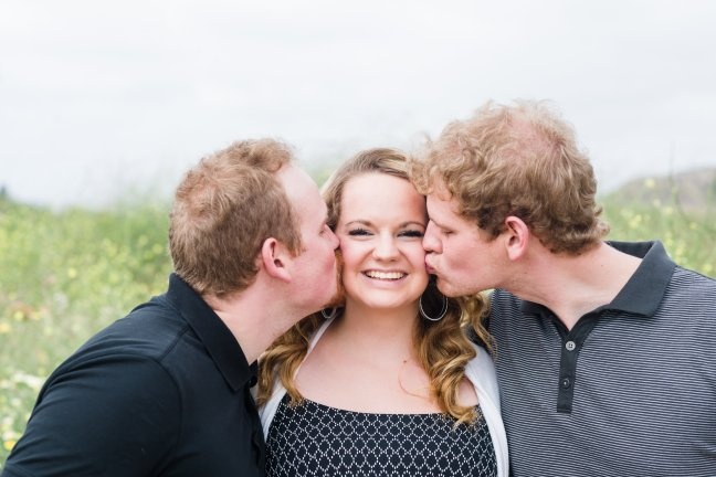 Hannah with our two loving brothers, David & Jonathan