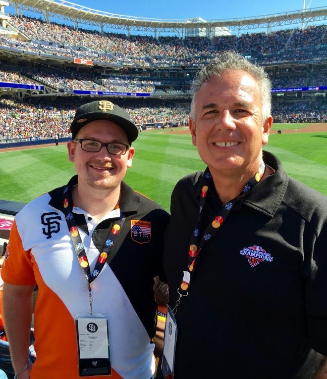 David Jr. & David Sr. at the All Star Game!