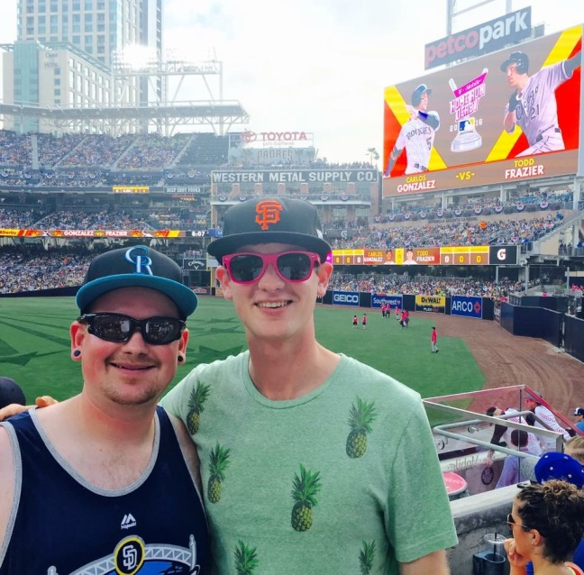 David & Jonathan at the Home Run Derby
