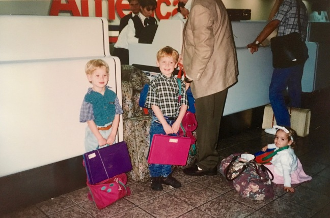 One thing about missionary life is we got used to traveling together