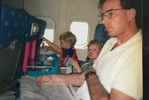 Flying with my two boys - part of the life we lived!