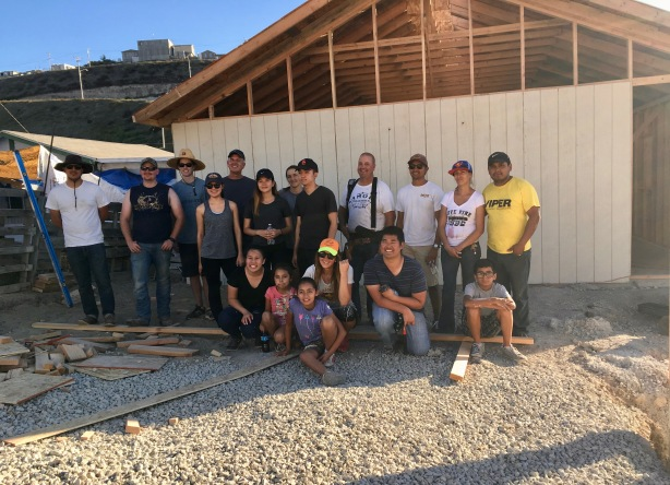 Our amazing group who came down to build the church with Pastor Obed Lares and his wife Cesiah on the right