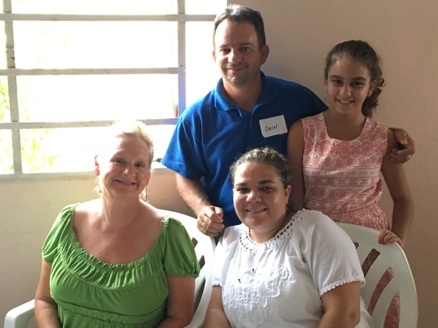Dawn with Pastor Oniel and his wife, Heidy and daughter, Rosa