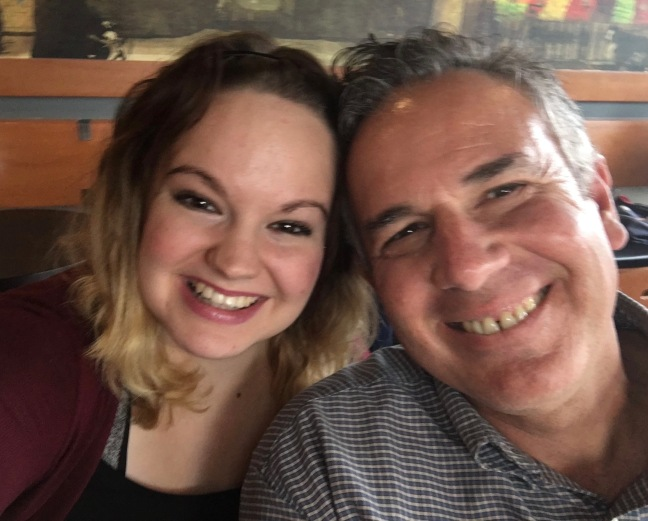 Dave with Hannah - My beautiful daughter that I love