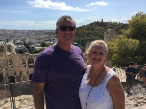 David & Dawn at the Acropolis in Athens