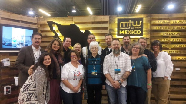 Our MTWMexico team at our booth (about half of our team is pictured here)