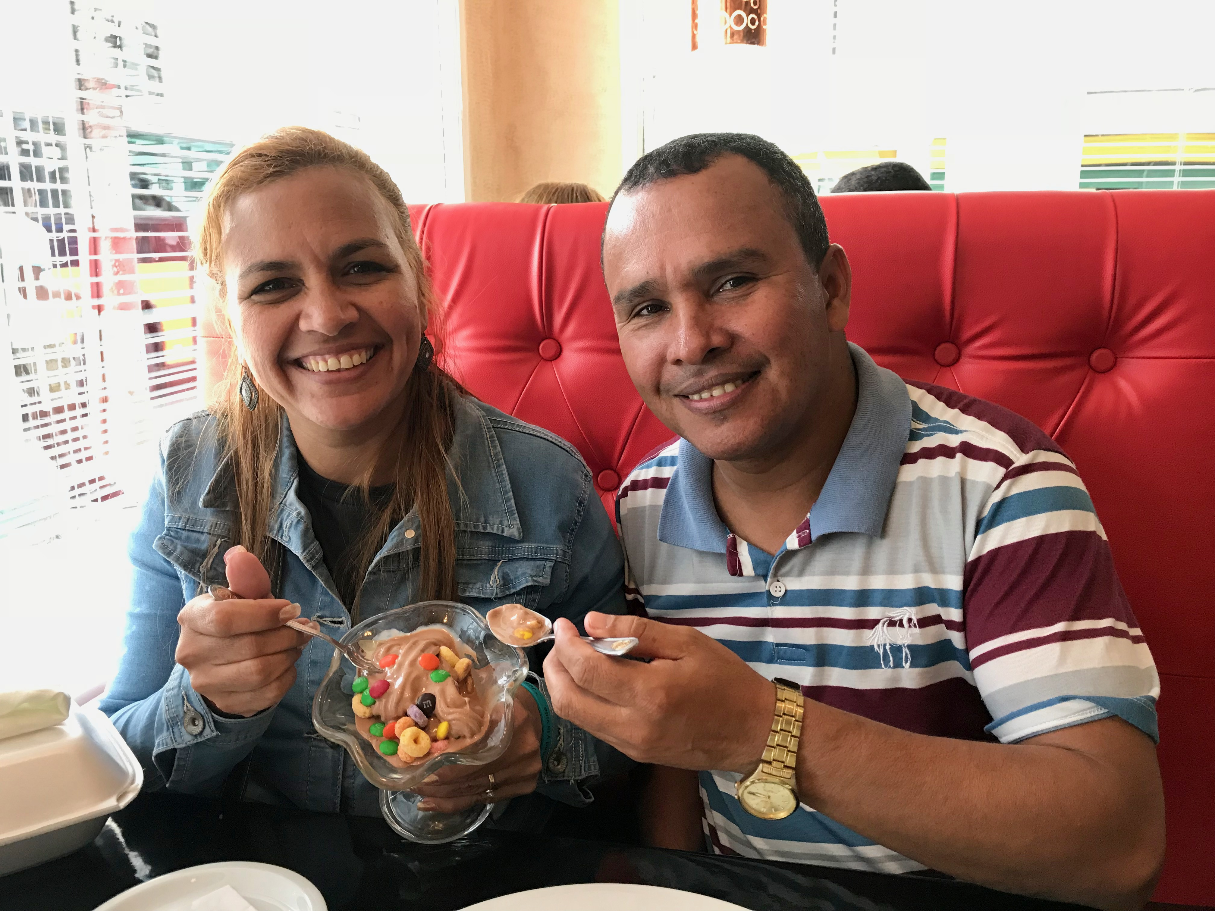 Dawn and I were able to take Luis and May out for a treat. What a special time for all of us!