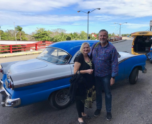 Dave and Dawn in Cuba. Quite an adventure.