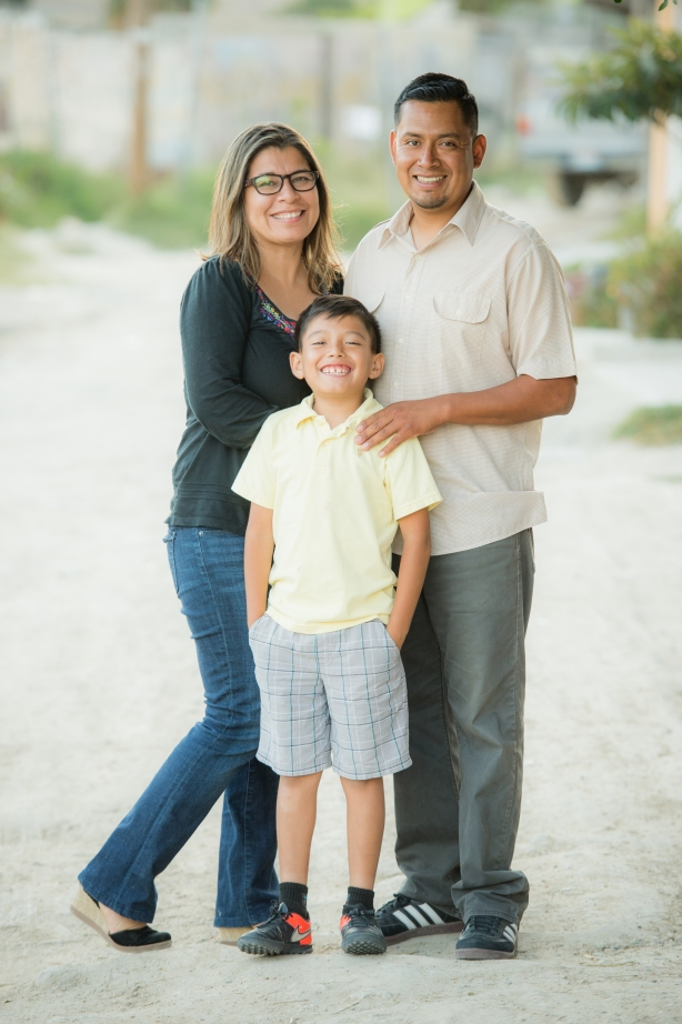 Pastor Victor Bravo, his wife Sol and their son, Abraham
